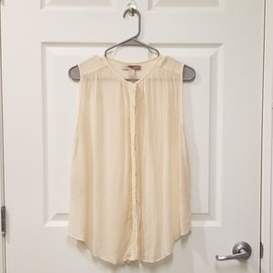 Forever 21 Cream Sleeveless Tunic Top w/Sequins